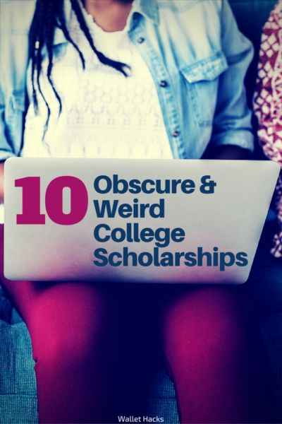 College is very expensive and if you want to graduate with tens of thousands of dollars in loans, you need to find scholarships. But don't go after the popular ones with thousands of applicants, find the weird ones. Here are 10 weird and obscure scholarships very few people know about! | college scholarships you might not know about | scholarships for college | what you need to know about applying for college scholarships | tips for high school students || Wallet Hacks