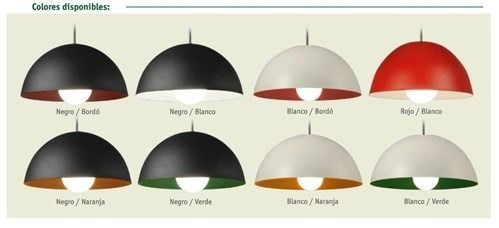lampara colgante para bajo consumo o led 30 cm faroluz 306b
