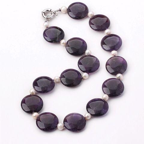Найти ещё Массивные ожерелья Сведения о Элегантный дизайн белый жемчуг и аметист ожерелье из бисера, высокое качество ожерелье карта, Китай бисера кольцо поставщиков, Бюджетный ожерелье фаната из Lucky Fox Jewelry на Aliexpress.com