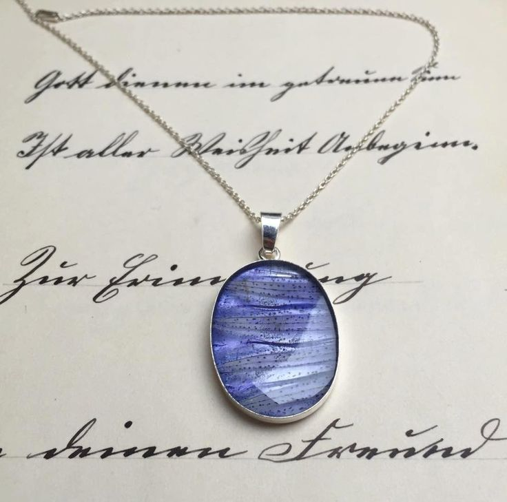 Gentiana asclepiadea. sterling silver pendant by pebs on Etsy