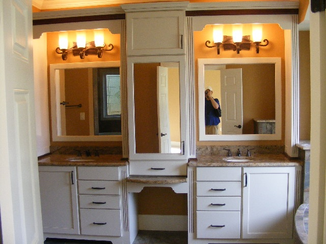 master bath with built in make up vanity | My Designs ...
