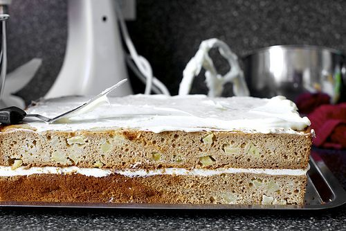 Roasted Apple Spice Sheet Cake