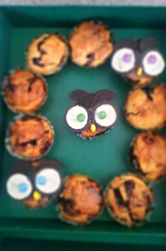 Świąteczne muffiny z sówkami :)