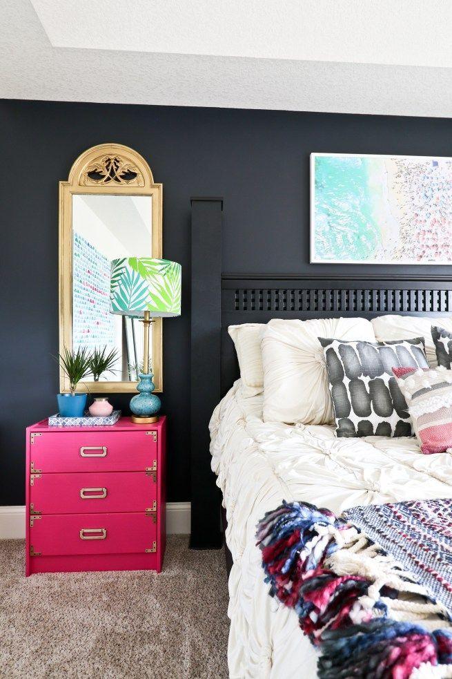 2018 Interior Design Trends; Jewel Tones; Bold Walls; Black Walls; Master Bedroom
