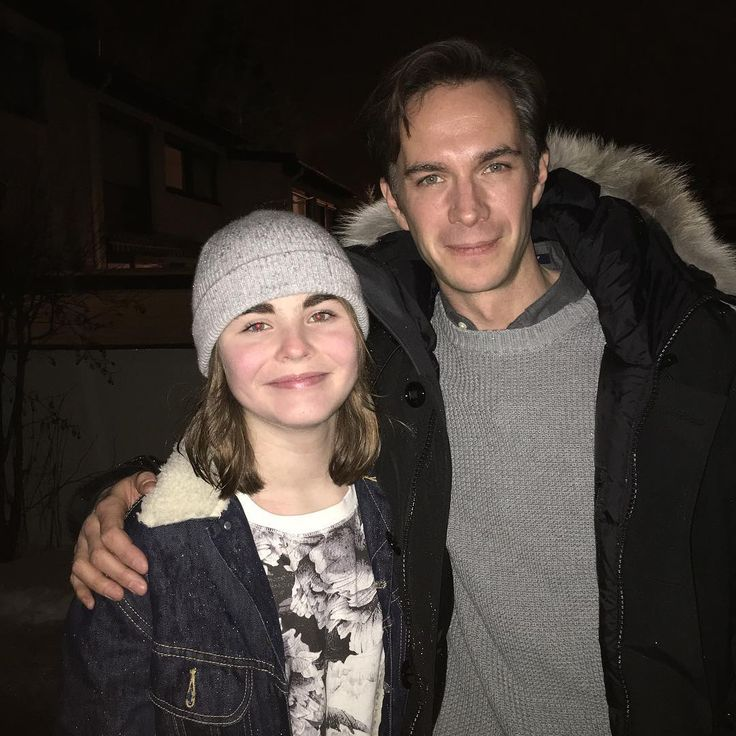27 Jan 2016: @27secondsofembla instagram shared this photo with us. A photo with her favourite actor at Tveterasen on the set of Snowman. Thanks for sharing!!! xo