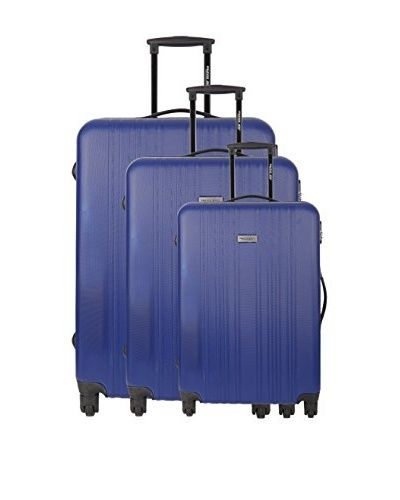 TRAVEL ONE 3er Set Hartschalen Trolley (blau)