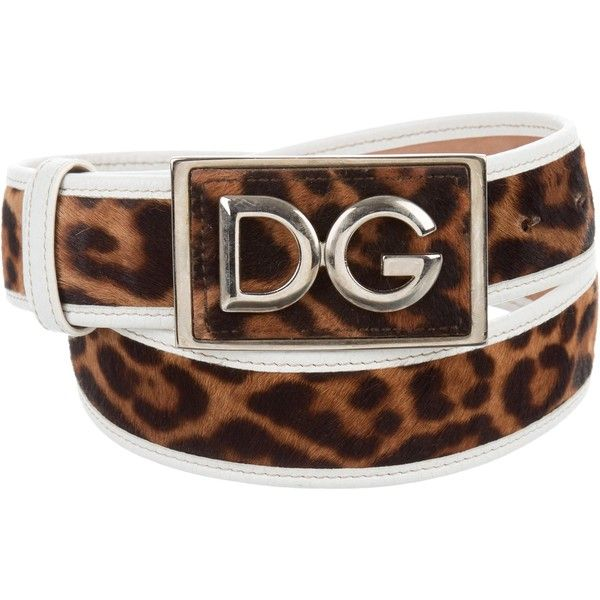 Pre-owned Dolce & Gabbana Ponyhair Logo Belt (240 PEN) ❤ liked on Polyvore featuring accessories, belts, animal print, logo belts, leopard calf hair belt, calf hair belt, leopard print belts and animal print belt