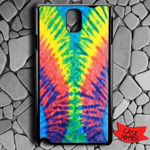 Tie Dye Multi Color Cut Spiral Samsung Galaxy Note 3 Black Case