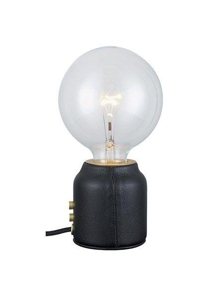 Base One Bordlampe, Sort Læder
