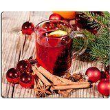luxlady Gaming Mousepad Bild-ID: 25584585Festive Glitzernde Weihnachten Christbaumschmuck Seasonal wintehot Tasty Spicy Mulled rot Wein mit Orange und Zimt Weihnachten Zeit Winter