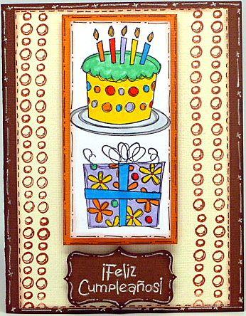 Tarjeta Cumpleaños Queque y Regalo
