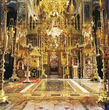 Άποψη του εσωτερικού του καθολικού - Inside the Katholikon