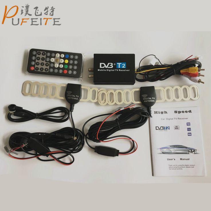 ==> [Free Shipping] Buy Best High Speed 110km/h Golden DVB T2 Car DVB-T Double Antenna DVB-T2 Car DVB T H.264 MPEG4 External USB Digital Car TV Tuner Online with LOWEST Price | 32811064425