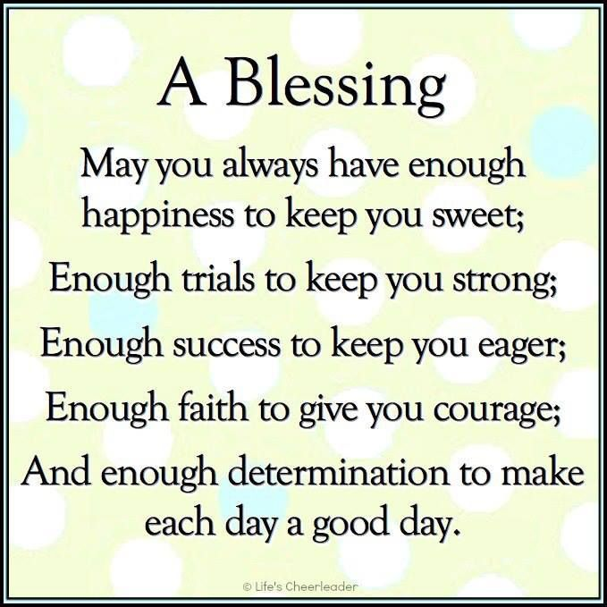 Poems About Blessings Pictures