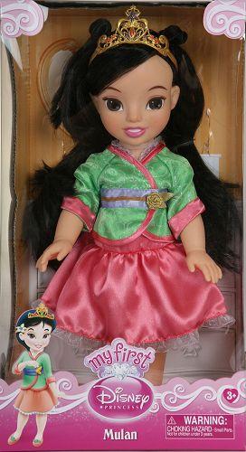 My First Disney Princess Disney Basic Toddler Doll - Mulan $11.91 (Reg $22.99) - http://www.rakinginthesavings.com/my-first-disney-princess-disney-basic-toddler-doll-mulan-11-91-reg-22-99/