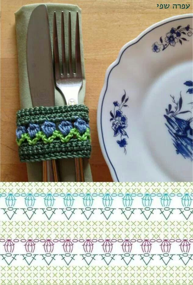 great idea - crochet napkin rings - why have I never thought of this before?