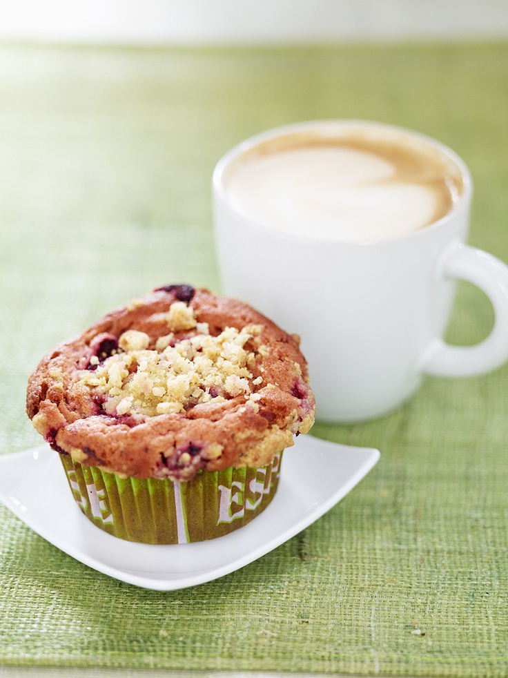 Raspberry & Cardamom Muffin with a Latte on the side!
