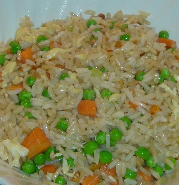Hibachi Style Fried Rice from Food.com:   Make at home, restaurant style fried rice. My daughter loves the fried rice you can get at expensive Japanese Hibachi style restaurants. I make this all the time for her and she loves it. I usually make it without the peas and carrots.