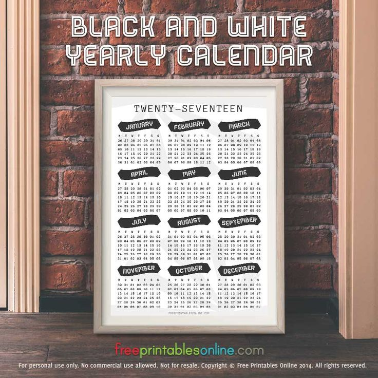 online yearly calendars