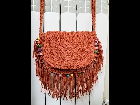 Crochet Festival Beaded and Fringed HandBag - YouTube