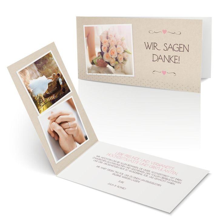 Dankeskarte Ringlein Ringlein