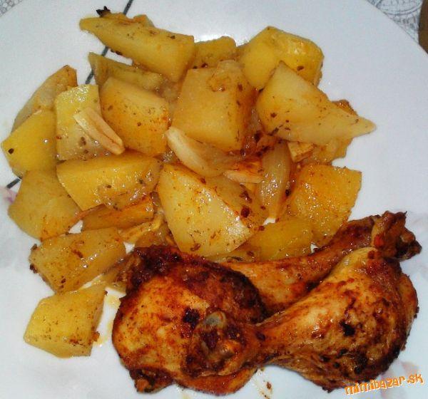 Voňavé kuriatko pečené na zemiakoch...