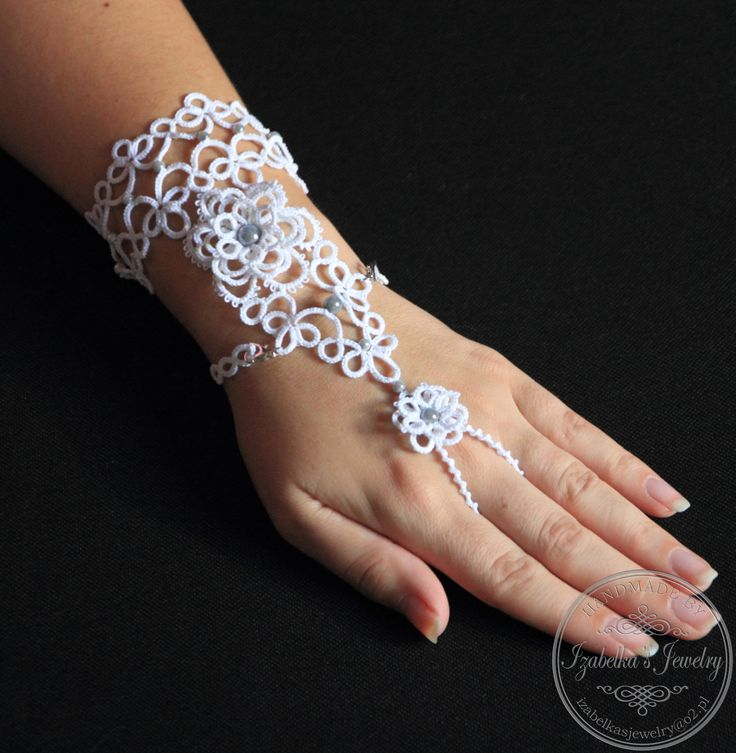 Frywolitkowa bransoleta na palec / Tatted slave bracelet