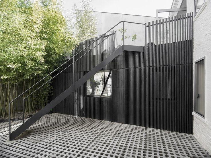 façade escalier - M08 Réhabilitation d'une chartreuse par BAST - Toulouse, France