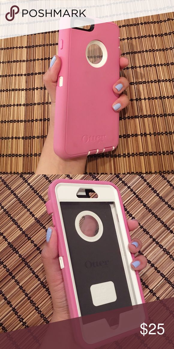 Pink Otter Box Case 6 Plus Pink Authentic Otter Box phone case for iPhone 6S plus or 6 Plus. Used and in excellent condition. OtterBox Accessories Phone Cases