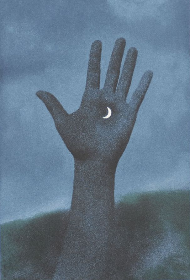 The night is mine. Rene Magritte - Jupiter in Virgo (1965)