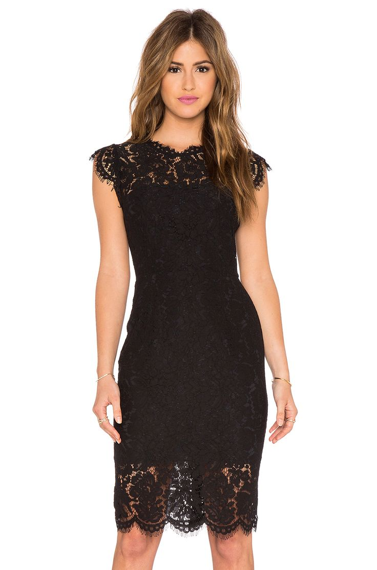 RACHEL ZOE Suzette Lace Mini Dress em Preto   REVOLVE