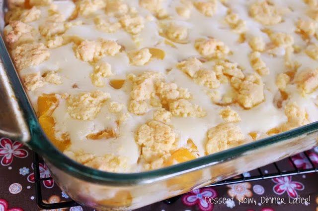 Peaches  Cream Cobbler - peach cobbler meets cheesecake!  A fun new dessert to try this summer!