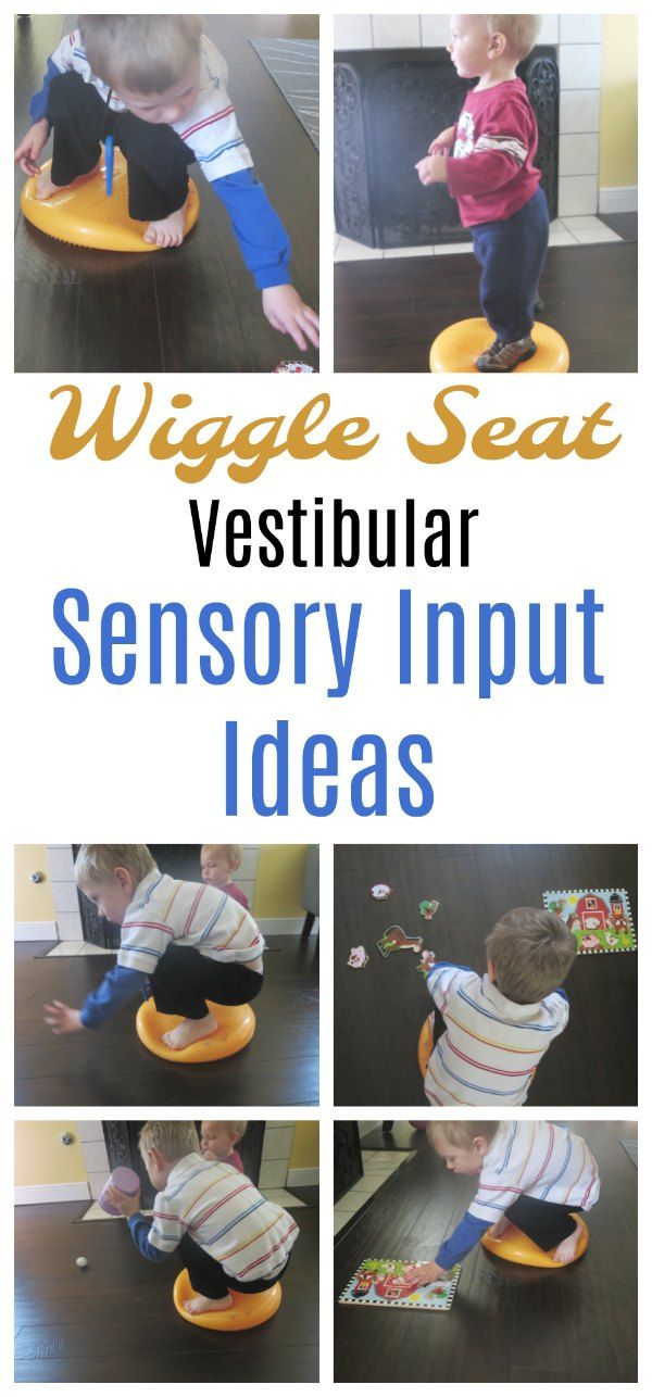 Vestibular Sensory input activities using a wiggle seat. Improve your child's balance, help them cross midline, executive functioning etc.