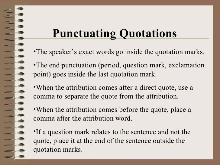 Quotations Marks Before Or After Period Quotations