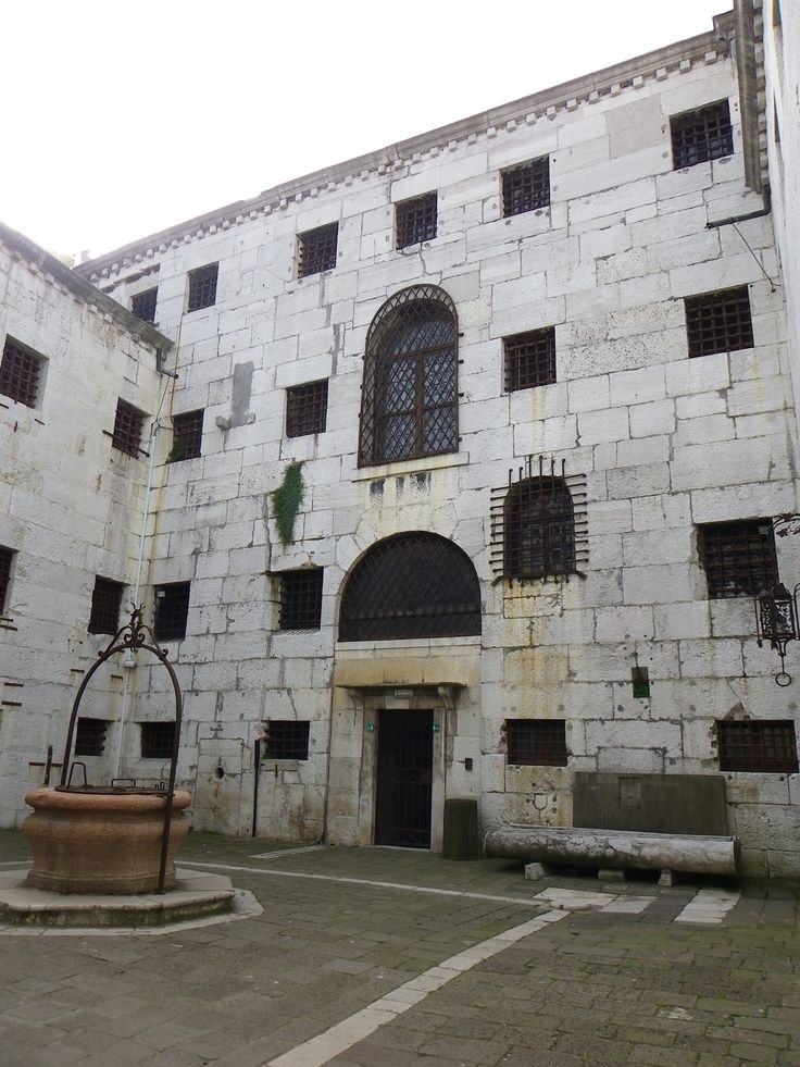cour intérieur des prisons du palais des doges - Venise