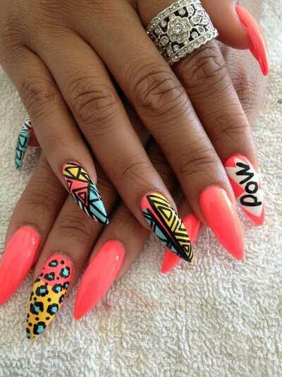 Cute nails love the design, hate the cut, should have been rounder not pointier.