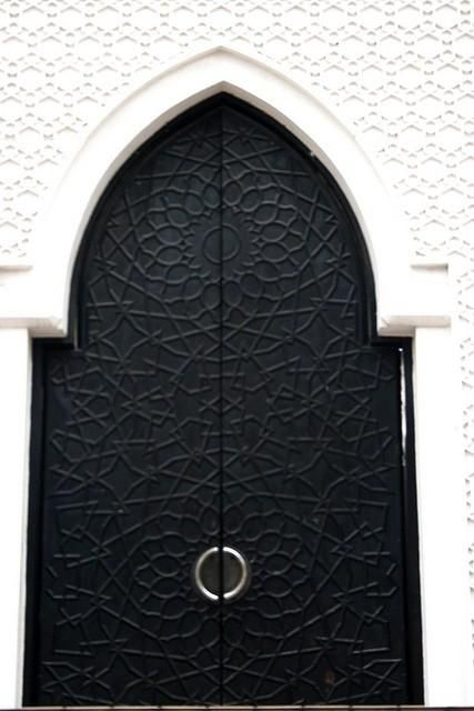 {Striking painted door in Morocco}
