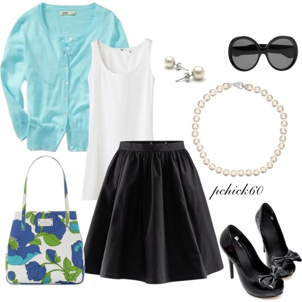 Created by pchick60 on Polyvore: Fashion Work, Spring Skirts, Cute I, Clothing, Fashion Faded, Fashion Spring, Accessories, Create, I D