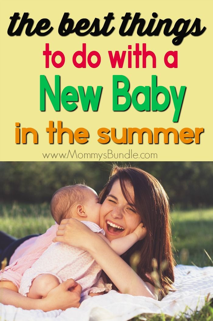 Summer activities for mom and baby! These practical ideas will help new mom and infant beat the heat, stay sane and fight depression.