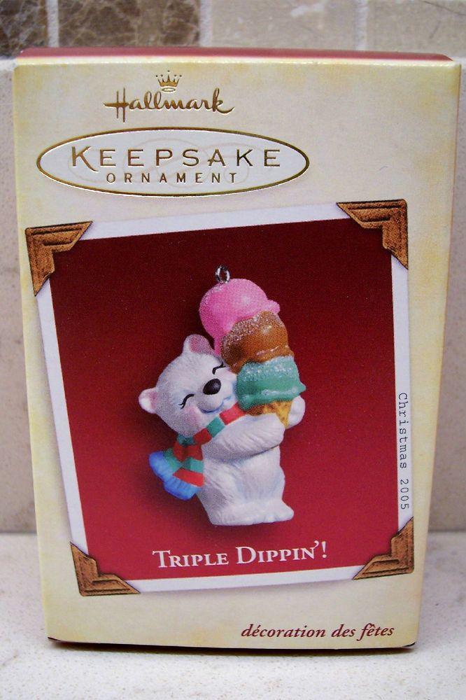 2005 Hallmark Ornament - Triple Dippin'! - Polar Bear & Ice Cream Cone   Collectibles, Decorative Collectibles, Decorative Collectible Brands   eBay!