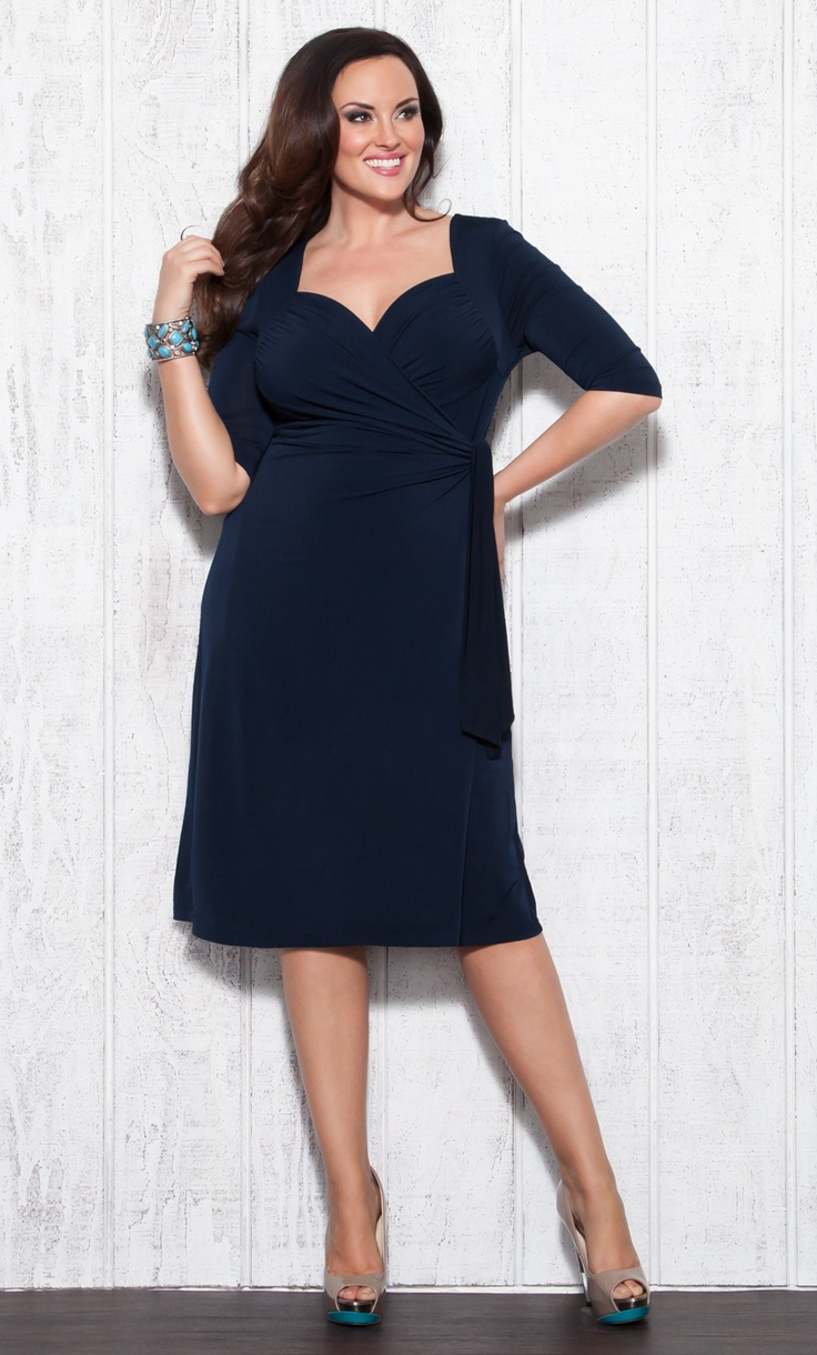Beautiful! Sweetheart Knit Wrap Dress by Kiyonna: Cocktails Dresses, Plus Size Navy Dresses, Bridesmaid Dresses, Sweetheart Knits, Dresses Blue, Prom Dresses, Size Cocktails, Plus Size Clothing, Knits Wraps