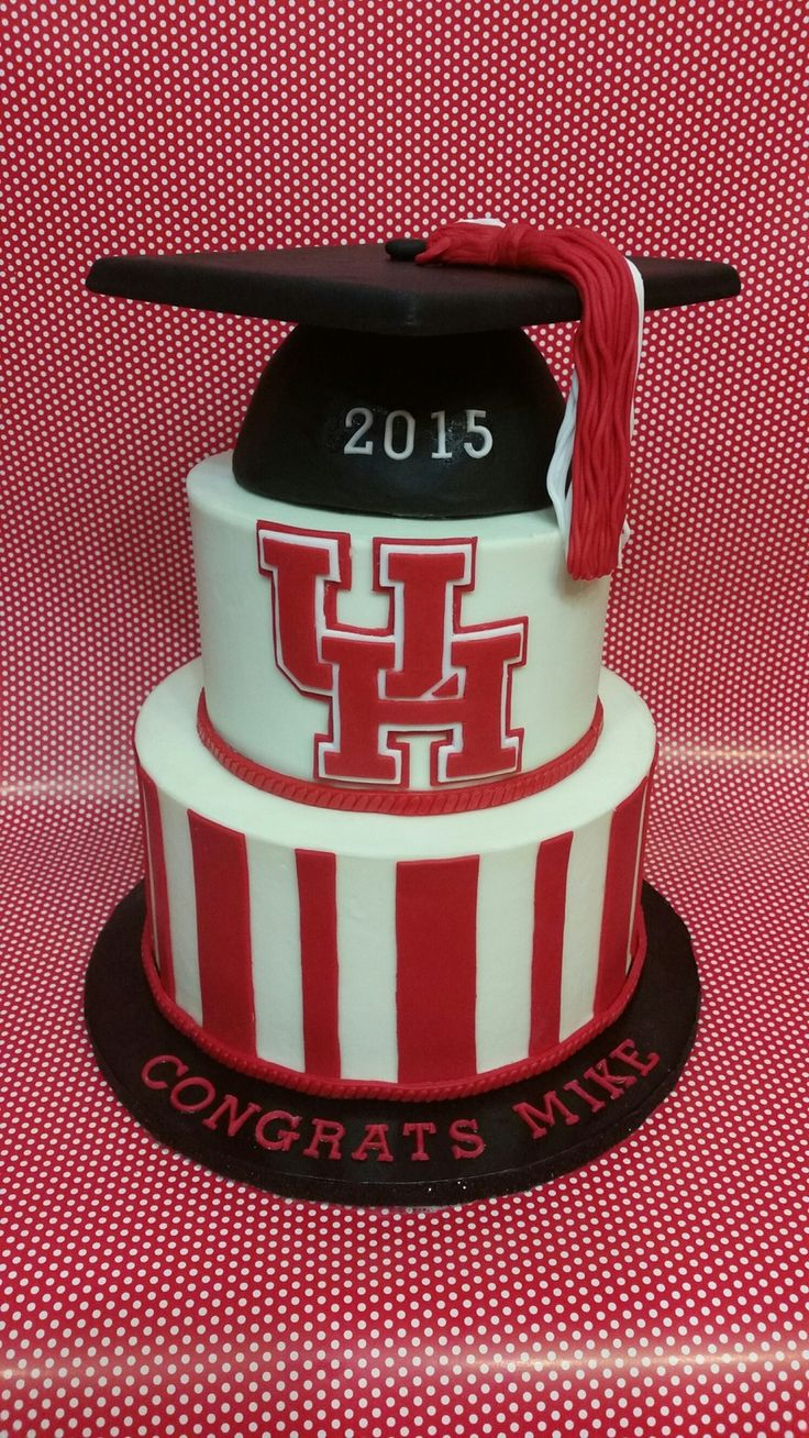 Tier One.  (...and two, and three.)  Via Cake Central: http://www.cakecentral.com/gallery/i/3357050/university-of-houston-graduation-cake