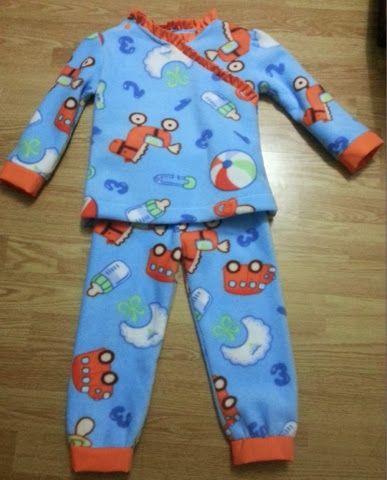 Cosas de Butterflies: Cómo hacer pijama niño para Maratón Telaria