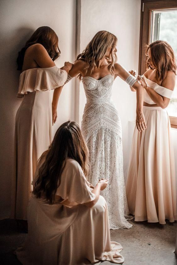 Ivory Lace Beach Wedding Dresses Off the Shoulder Summer Beach Wedding Dresses -…