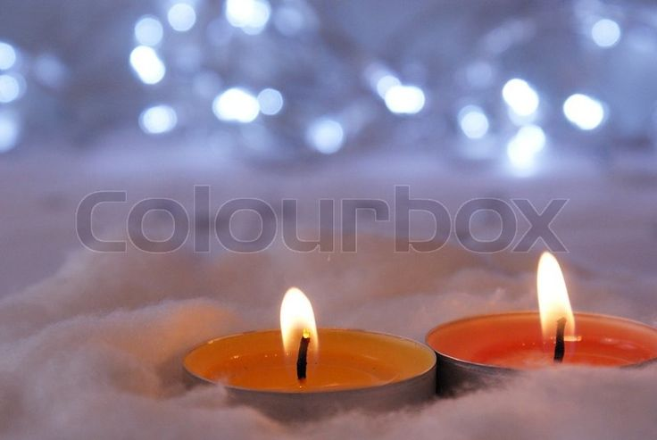 Christmas candle light | Stock Photo | Colourbox on Colourbox