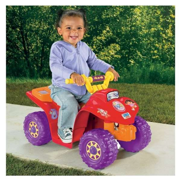 my daughter again on the dora power wheel quad | Fisher Price amp Power Wheels Dora Lil Quad The Dora Lil Quad Ride On ...