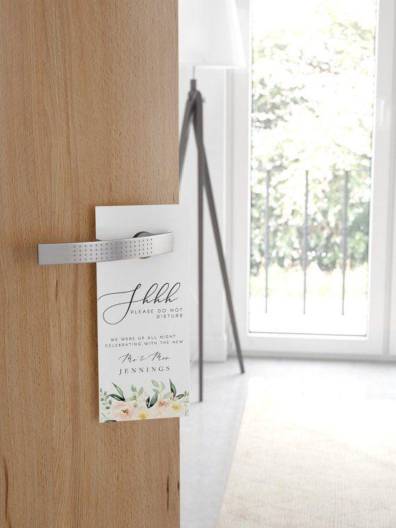 Wedding Door Hanger Template Please Do Not Disturb Door Hanger Blush