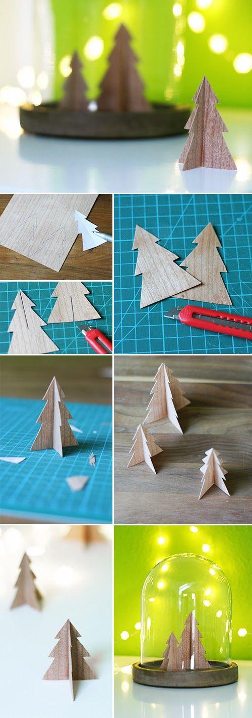 Furnier, DIY, Holz, Weihnachten, Basteln, Deko,