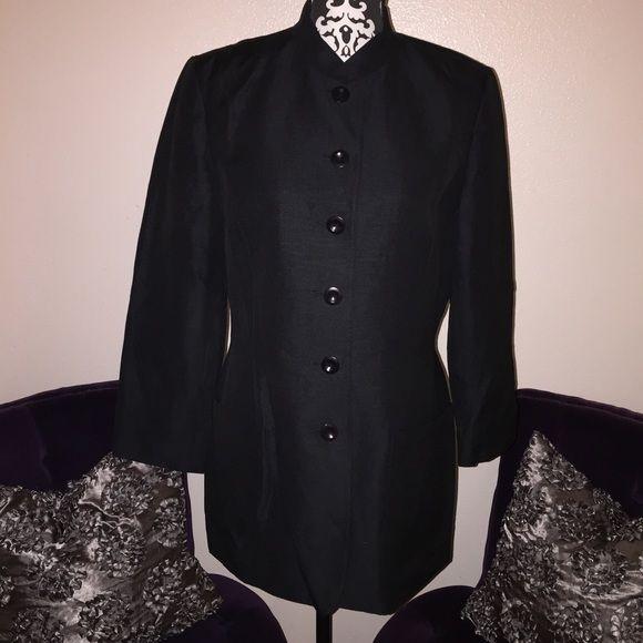 "Selling this ""CLASSIQUES ENTIER Black Mandarin Collar Jacket"" in my Poshmark closet! My username is: cynthiadaves. #shopmycloset #poshmark #fashion #shopping #style #forsale #Classiques Entier #Jackets & Coats"