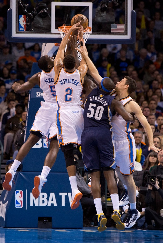 Thunder Vs Grizzlies At Chesapeake Energy Arena Jan 31 2013